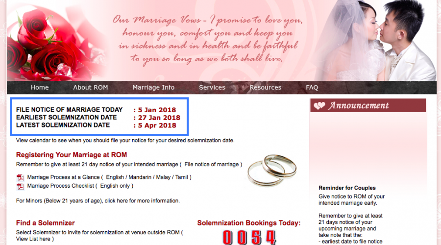 A Guide to Registering Your Marriage in Singapore